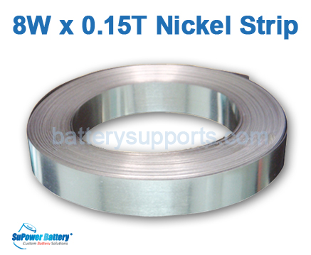 1m 8 x 0.15T Pure Ni plate Nickel battery welding strip tape